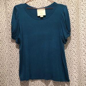 Anthropologie Maeve M puff sleeve tee shirt